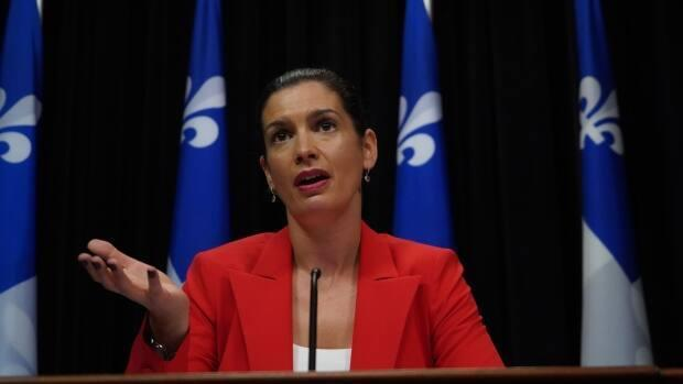 Public Security Minister Geneviève Guilbault reacted Wednesday to a report recommending 138 ways Quebec should modernize its police forces. (Sylvain Roy Roussel/CBC - image credit)