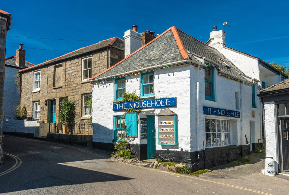 The Mousehole gift shop in the village center, Mousehole, Cornwall, England, UK. (Photo by: Andrew Michael/Education Images/Universal Images Group via Getty Images)