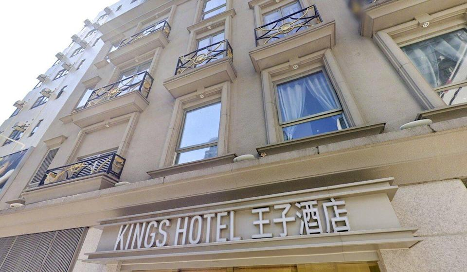 The Kings Hotel in Yau Ma Tei, where a man was found dead with wounds to his neck and limbs on Wednesday. Photo: Handout