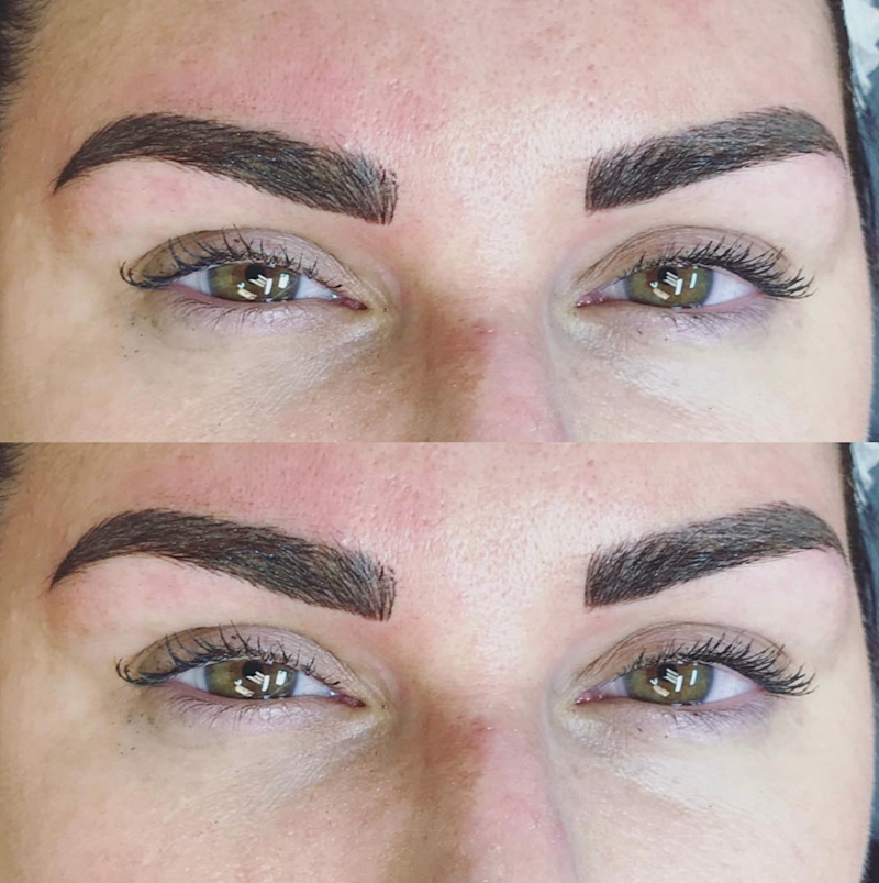 Eyebrows after microshading and microblading