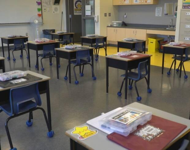 The Newfoundland and Labrador English School District has issued a tender for 4,000 air purification units for classrooms across the province. (Mark Cumby/CBC - image credit)
