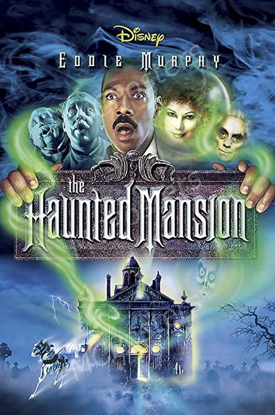 """<p>When real estate agent Jim Evers (<strong>Eddie Murphy</strong>) and his family decide to take a vacation, they wind up stopping at a super-creepy mansion. Tasked with trying to sell the spooky residence, Jim and his family soon discover that it's haunted by Master Gracey (<strong>Nathaniel Parker</strong>) and that escaping from the haunted grounds is no easy feat.</p><p><a class=""""link rapid-noclick-resp"""" href=""""https://go.redirectingat.com?id=74968X1596630&url=https%3A%2F%2Fwww.disneyplus.com%2Fmovies%2Fthe-haunted-mansion%2F6RcGqdevf15z&sref=https%3A%2F%2Fwww.goodhousekeeping.com%2Flife%2Fentertainment%2Fg33651563%2Fdisney-halloween-movies%2F"""" rel=""""nofollow noopener"""" target=""""_blank"""" data-ylk=""""slk:WATCH NOW"""">WATCH NOW</a></p>"""