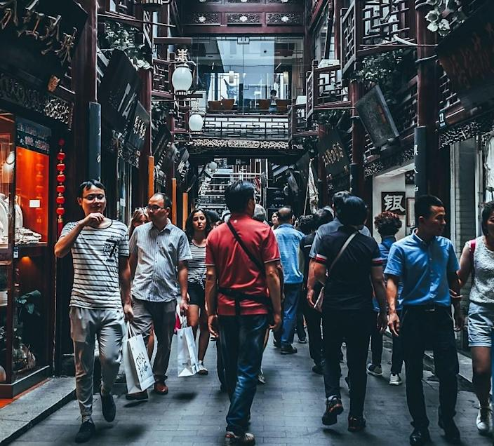 People walking in Shanghai