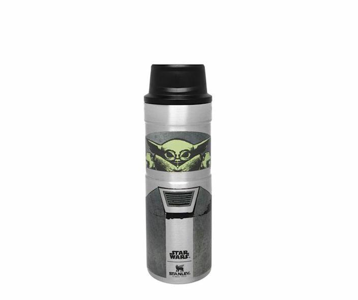 """<p><strong>Stanley</strong></p><p>amazon.com</p><p><strong>$26.80</strong></p><p><a href=""""https://www.amazon.com/dp/B08F2YWGRK?tag=syn-yahoo-20&ascsubtag=%5Bartid%7C10060.g.24445809%5Bsrc%7Cyahoo-us"""" rel=""""nofollow noopener"""" target=""""_blank"""" data-ylk=""""slk:Shop Now"""" class=""""link rapid-noclick-resp"""">Shop Now</a></p><p><em>The Mandalorian</em> fans can take The Child and their favorite hot beverage with them whenever they leave the house with this insulated, stainless-steel Stanley travel mug.</p>"""