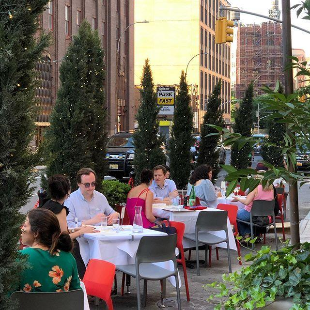 "<p>Have an ice-cold martini and a pitch-perfect omelette at <a href=""https://www.theodeonrestaurant.com/"" rel=""nofollow noopener"" target=""_blank"" data-ylk=""slk:the Tribeca boîte"" class=""link rapid-noclick-resp"">the Tribeca boîte</a> that has defined downtown cool since the '80s. Outside tables allow you to dine under the warm glow of its iconic neon sign.</p><p><a href=""https://www.instagram.com/p/CBzL8x4DkxE/?utm_source=ig_embed&utm_campaign=loading"" rel=""nofollow noopener"" target=""_blank"" data-ylk=""slk:See the original post on Instagram"" class=""link rapid-noclick-resp"">See the original post on Instagram</a></p>"