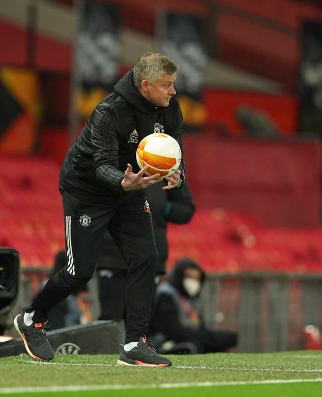Ole Gunnar Solskjaer feels United will be suited by having to attack in the second leg