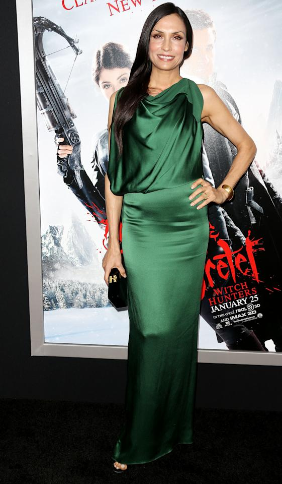 "HOLLYWOOD, CA - JANUARY 24: Actress Famke Janssen attends the Premiere of Paramount Pictures' ""Hansel And Gretel Witch Hunters"" at the TCL Chinese Theatre on January 24, 2013 in Hollywood, California.  (Photo by Frederick M. Brown/Getty Images)"