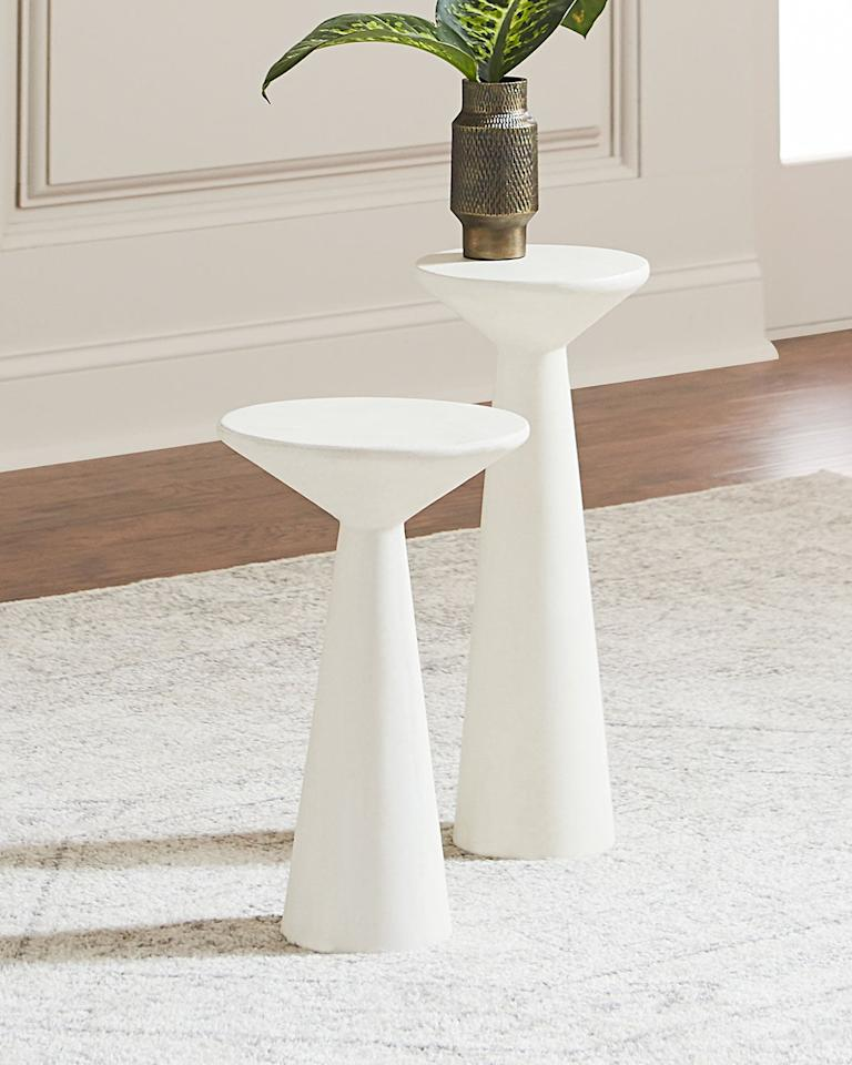 """<p>How chic are these <a href=""""https://www.popsugar.com/buy/Pair-Napoli-Pedestal-Side-Tables-476230?p_name=Pair%20of%20Napoli%20Pedestal%20Side%20Tables&retailer=horchow.com&pid=476230&price=299&evar1=casa%3Aus&evar9=46462040&evar98=https%3A%2F%2Fwww.popsugar.com%2Fphoto-gallery%2F46462040%2Fimage%2F46462136%2FPair-Napoli-Pedestal-Side-Tables&list1=home%2Cfurniture%2Chome%20shopping&prop13=api&pdata=1"""" rel=""""nofollow"""" data-shoppable-link=""""1"""" target=""""_blank"""" class=""""ga-track"""" data-ga-category=""""Related"""" data-ga-label=""""https://www.horchow.com/Pair-of-Napoli-Pedestal-Side-Tables/cprod132360064_cat2020732__/p.prod?icid=&amp;searchType=EndecaDrivenCat&amp;rte=%252Fcategory.service%253FitemId%253Dcat2020732%2526pageSize%253D29%2526Nao%253D0%2526Ns%253DMAX_PROMO_PRICE%2526refinements%253D&amp;eItemId=cprod132360064&amp;cmCat=product"""" data-ga-action=""""In-Line Links"""">Pair of Napoli Pedestal Side Tables</a> ($299)?</p>"""
