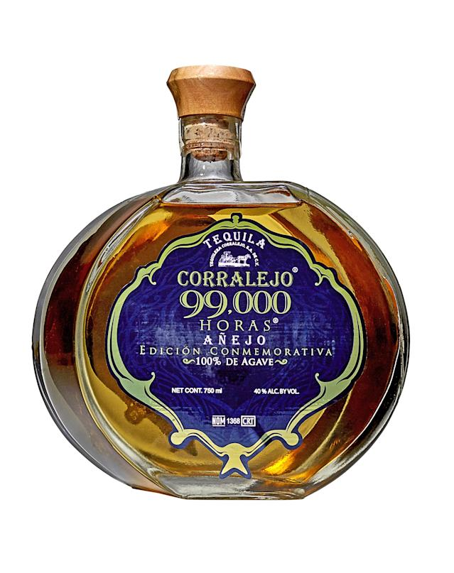 "Named for the number of hours required to produce it, this 18-month-aged Añejo is a true labor of love.<br> <a href=""https://drizly.com/liquor/tequila/anejo-tequila/corralejo-triple-99000-horas-anejo-80/p22333"" rel=""nofollow noopener"" target=""_blank"" data-ylk=""slk:BUY NOW: $50"" class=""link rapid-noclick-resp""><strong>BUY NOW:</strong> $50</a>"