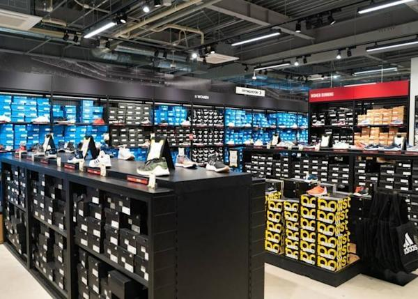 A large selection of all kinds of sneakers