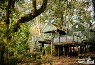"""<p><strong>Sleeps:</strong> 4</p><p>Floating between the branches and leaves on a beautiful country estate, <a href=""""https://go.redirectingat.com?id=127X1599956&url=https%3A%2F%2Fwww.qualityunearthed.co.uk%2Fglamping%2Fengland%2Fcotswolds%2Ftreehouses%2Fgeorges-treehouse&sref=https%3A%2F%2Fwww.housebeautiful.com%2Fuk%2Flifestyle%2Fproperty%2Fg33931209%2Ftreehouse-holidays%2F"""" rel=""""nofollow noopener"""" target=""""_blank"""" data-ylk=""""slk:George's Treehouse"""" class=""""link rapid-noclick-resp"""">George's Treehouse</a> combines extravagant splendour with a sense of playful charm. This treehouse holiday is all about the lovely furnishings – from the curved wooden sun loungers to the swing chairs on the tree-lined balcony. There's an electric hot tub, idyllic views and even an outdoor shower for the full treehouse experience.</p><p>Treehouse holidays cost from £785 for three nights from Quality Unearthed</p><p><a class=""""link rapid-noclick-resp"""" href=""""https://go.redirectingat.com?id=127X1599956&url=https%3A%2F%2Fwww.qualityunearthed.co.uk%2Fglamping%2Fengland%2Fcotswolds%2Ftreehouses%2Fgeorges-treehouse&sref=https%3A%2F%2Fwww.housebeautiful.com%2Fuk%2Flifestyle%2Fproperty%2Fg33931209%2Ftreehouse-holidays%2F"""" rel=""""nofollow noopener"""" target=""""_blank"""" data-ylk=""""slk:SEE INSIDE"""">SEE INSIDE</a></p>"""