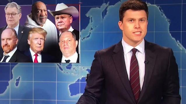 """Weekend Update"" co-host Colin Jost and Michael Che didn't cut ""Saturday Night Live"" veteran Sen. Al Franken (D-Minn.)"