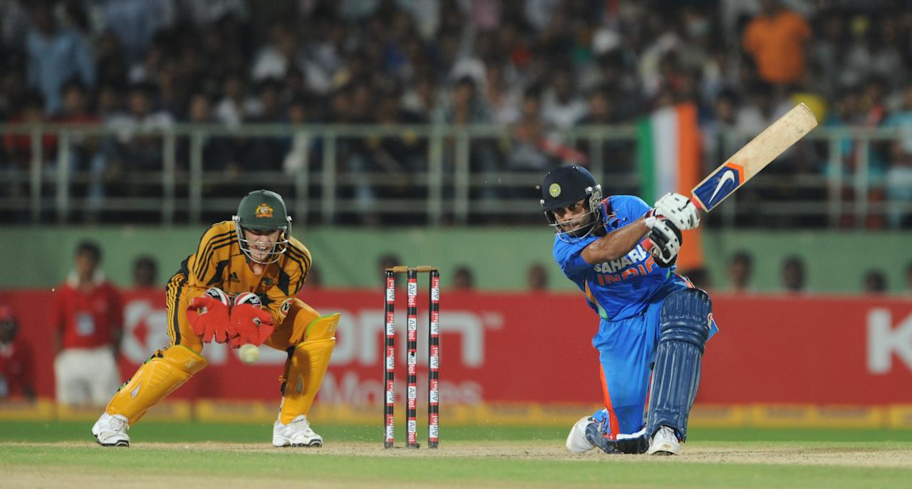 118 vs Australia, October 20, 2010 in Vizag : This was Kohli's first big-league hundred. Chasing a stiff 290, India made another poor start - 35-2, with the openers gone. Kohli steadied the innings with Yuvraj Singh, then built it towards a pulsating finish with Suresh Raina. [ Match scorecard ]