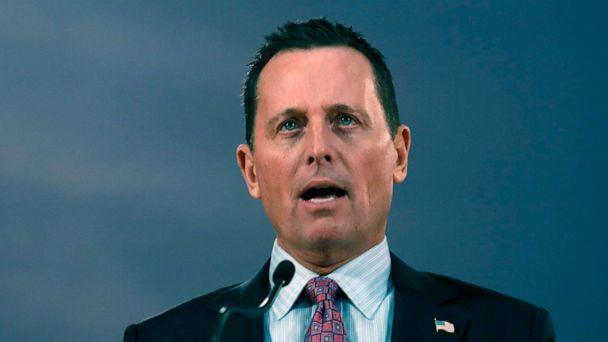 PHOTO: Then-U.S. President Donald Trump's envoy for the Kosovo-Serbia dialogue, Ambassador Richard Grenell speaks during a news conference after a meeting with Serbian President Aleksandar Vucic in Belgrade, Serbia, Jan. 24, 2020. (Darko Vojinovic/AP, FILE)