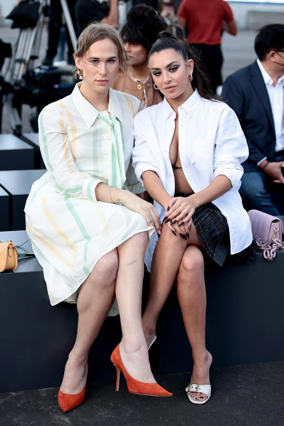 <p>Tommy sat front row yet again for the Coach show, this time with Charli XCX by her side.</p>
