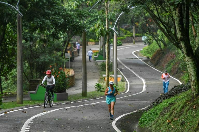 """Medellin, Colombia's second-biggest city, added 30 tree- and flower-filled """"corridors"""", connecting up with existing green spaces"""
