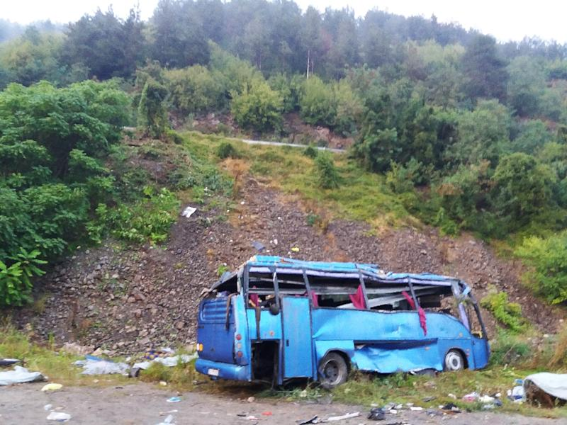 At least 15 people killed as coach crashes in Bulgaria