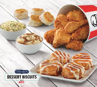 KFC is offering free delivery on Mother's Day (May 12) through delivery partner, Grubhub. Now, mom and the entire family can have KFC's newest limited time menu item, Cinnabon® Dessert Biscuits, and its world famous fried chicken delivered right to their doorstep, courtesy of the Colonel.