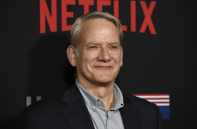 "Campbell Scott, a cast member in ""House of Cards,"" poses at the season six premiere of the Netflix political drama series, Monday, Oct. 22, 2018, in Los Angeles. (Photo by Chris Pizzello/Invision/AP)"