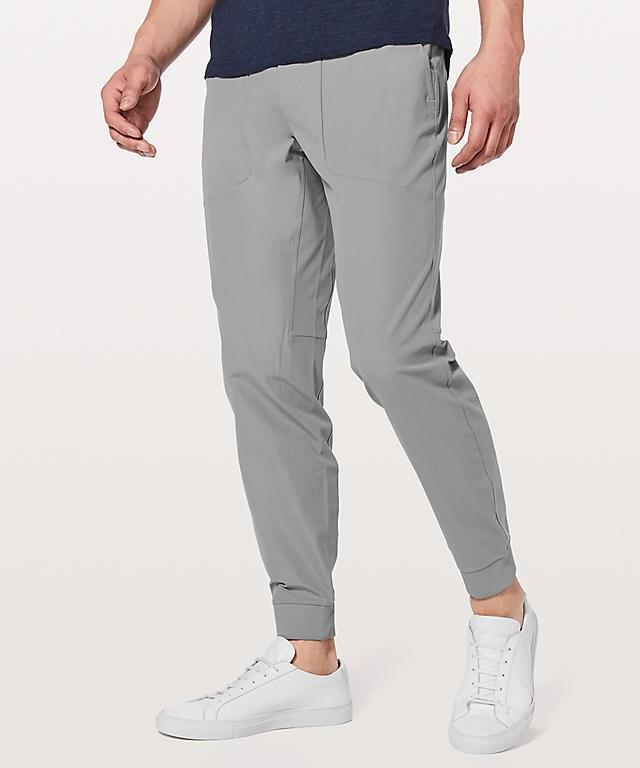 "<p>These joggers are designed with comfort in mind. Engineered with a roomier fit through the top half before narrowing from the knee to ankle, these joggers have an unrestricted feel with a clean, tailored look. The four-way stretch and quick-dry fabric is great for workouts, a range session or lounging.</p> <p><a href=""https://shop.lululemon.com/p/men-pants/Abc-Jogger/_/prod8530240?color=30380"" rel=""nofollow noopener"" target=""_blank"" data-ylk=""slk:lululemon.com"" class=""link rapid-noclick-resp""><strong>lululemon.com</strong></a>/$128</p>"