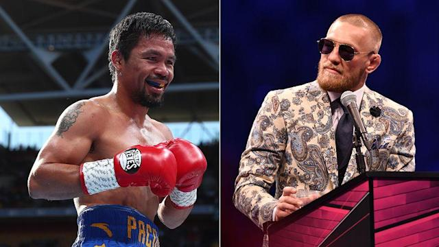 Manny Pacquiao said Conor McGregor fight talks have begun, but that doesn't appear to be the case. (Getty)