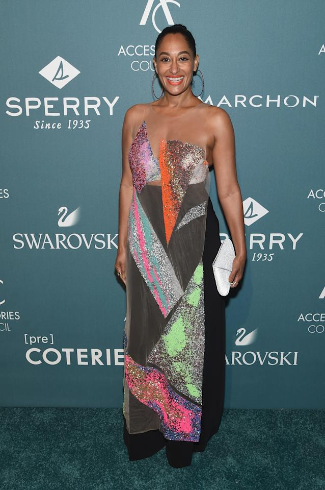 <p>Wearing Germanier.<em> [Photo: Getty]</em> </p>