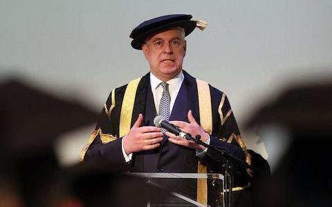 Duke of York installed as the Chancellor of the University of Huddersfield - Credit: Lynne Cameron/PA