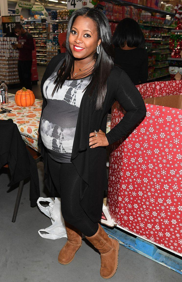 Keshia Knight Pulliam showed off her baby bump inNovember 2016. (Photo: Paras Griffin/Getty Images)