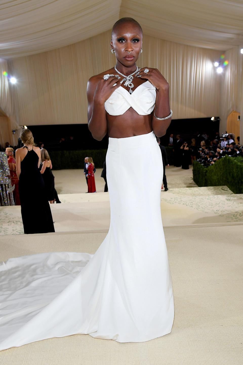"""<h1 class=""""title"""">Cynthia Erivo, The 2021 Met Gala Celebrating In America: A Lexicon Of Fashion - Red Carpet</h1><cite class=""""credit"""">Getty</cite>"""