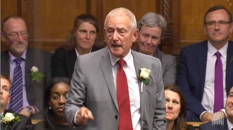 Labour Co-operative Barry Sheerman speaks in the House of Commons, London, as MPs gather to pay tribute to Labour MP Jo Cox.
