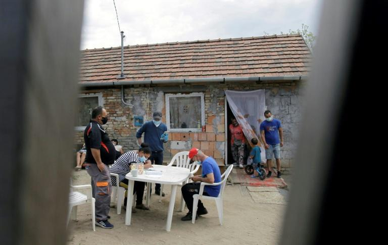 In many Roma settlements, residents have no public utilities, even water, and are forced to share communal facilities