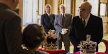 """<p>Even though no actual Windsor items are used as props in the series, production designer Martin Childs loves when people think there are. """"Nothing that real, no, but I'm flattered you think there might be. We must be getting our fakery right!"""" he told the <em><a href=""""http://www.latimes.com/home/la-hm-the-crown-qa-20180104-htmlstory.html"""" rel=""""nofollow noopener"""" target=""""_blank"""" data-ylk=""""slk:LA Times"""" class=""""link rapid-noclick-resp"""">LA Times</a></em>.</p>"""