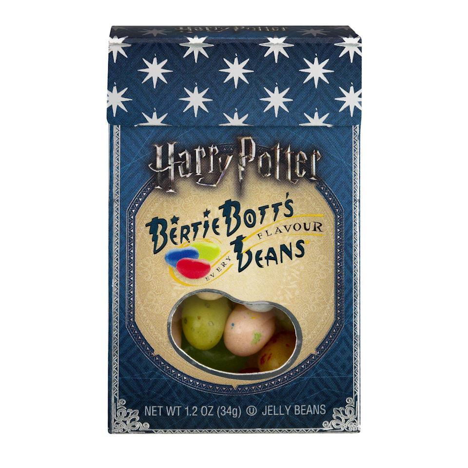 "<p><strong>Jelly Belly</strong></p><p>walmart.com</p><p><strong>$0.75</strong></p><p><a href=""https://go.redirectingat.com?id=74968X1596630&url=https%3A%2F%2Fwww.walmart.com%2Fip%2F36373155&sref=https%3A%2F%2Fwww.seventeen.com%2Ffashion%2Fg2651%2Fharry-potter-gifts%2F"" rel=""nofollow noopener"" target=""_blank"" data-ylk=""slk:Shop Now"" class=""link rapid-noclick-resp"">Shop Now</a></p>"