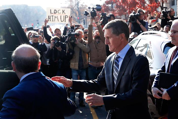 <p>DEC. 1, 2017 – Former U.S. National Security Adviser Michael Flynn departs U.S. District Court after pleading guilty to lying to the FBI about his contacts with Russia's ambassador to the United States, in Washington. (Photo: Jonathan Ernst/Reuters) </p>