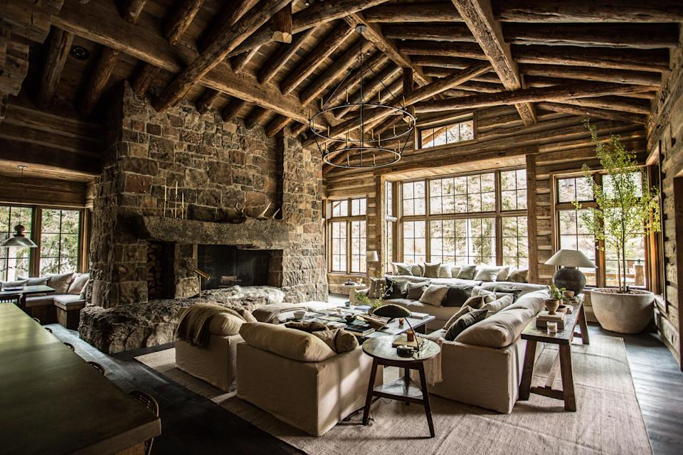 Cabin fever: the actor Aaron Paul's five-bedroom property in Sun Valley, Idaho, designed by Jake Arnold.Michael Clifford