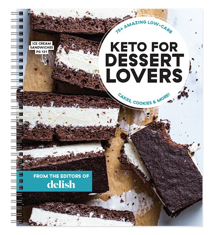 """<p>delish.com</p><p><strong>$24.95</strong></p><p><a href=""""https://store.delish.com/delish-keto-for-dessert-lovers.html"""" rel=""""nofollow noopener"""" target=""""_blank"""" data-ylk=""""slk:Shop Now"""" class=""""link rapid-noclick-resp"""">Shop Now</a></p><p>Whether you're full-on keto or just keto-curious, this fully photographed, 160-page spiral-bound cookbook targets everyone's favorite part of the meal: dessert.</p>"""