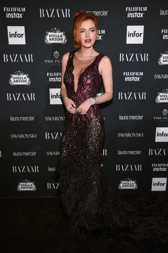 "Bella Thorne attends Harper's BAZAAR Celebration of ""ICONS By Carine Roitfeld"" at The Plaza Hotel presented by Infor, Laura Mercier, Stella Artois, FUJIFILM and SWAROVSKI on September 8, 2017 in New York City."