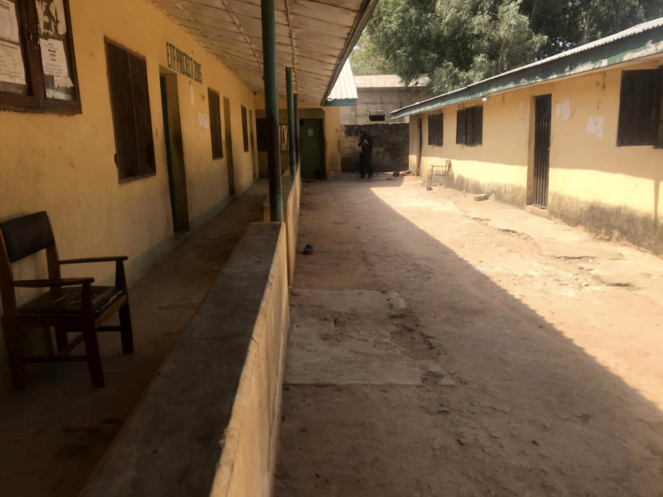 FILE - In this Friday March 12. 2021, file photo, a view of the empty Federal College of Forestry Mechanization school, following abduction of students by gunmen in Afaka, Kaduna, Nigeria. They spent weeks in the captivity of gunmen in forests ringing Nigeria's troubled northwest region before being freed. Now at least 25 students in northwest Kaduna State have sent in applications for scholarships and admission into schools abroad through a local school committee overseeing the application process. Some of the students, parents and teachers spoke with The Associated Press. (AP Photo, File)