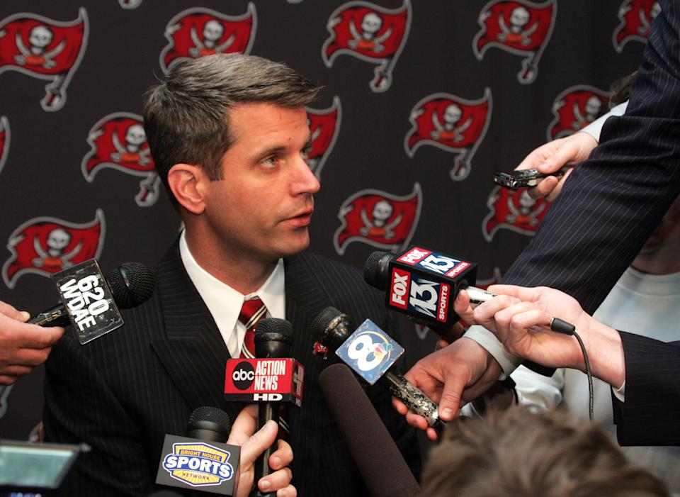 Mike Martin's scouting journey when he received a cold call from a man who eventually would become general manager of the Tampa Bay Buccaneers, Mark Dominik. (Getty Images)