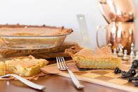 "<p>While chess pie is a <a href=""https://www.thedailymeal.com/cook/classic-southern-recipes-are-better-grandma-s-gallery?referrer=yahoo&category=beauty_food&include_utm=1&utm_medium=referral&utm_source=yahoo&utm_campaign=feed"" rel=""nofollow noopener"" target=""_blank"" data-ylk=""slk:beloved dessert all throughout the South"" class=""link rapid-noclick-resp"">beloved dessert all throughout the South</a>, it first appeared in an 1824 cookbook ""The Virginia Housewife"" under the title ""transparent pudding,"" marking it as the state's most iconic pie.</p>"