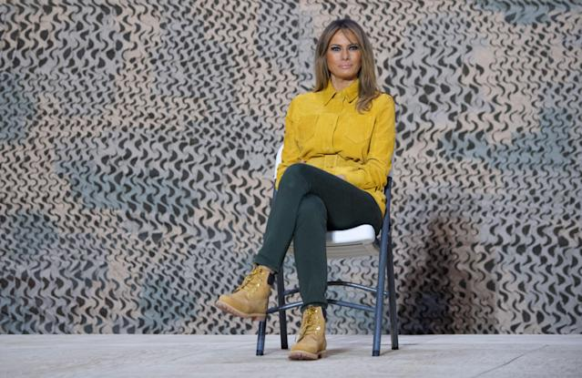 Melania Trump mocked for Timberland boots in Iraq