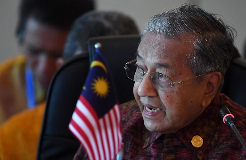 Dr Mahathir called Trump unpredictable but said he was not bothered by the latter whom he indicated was inconsequential to South-east Asia. — Bernama pic