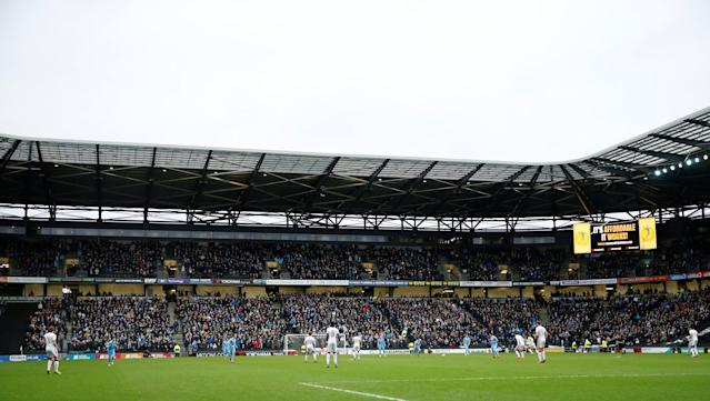 Soccer Football - FA Cup Fourth Round - Milton Keynes Dons vs Coventry City - Stadium MK, Milton Keynes, Britain - January 27, 2018 General view inside the stadium Action Images/Andrew Boyers