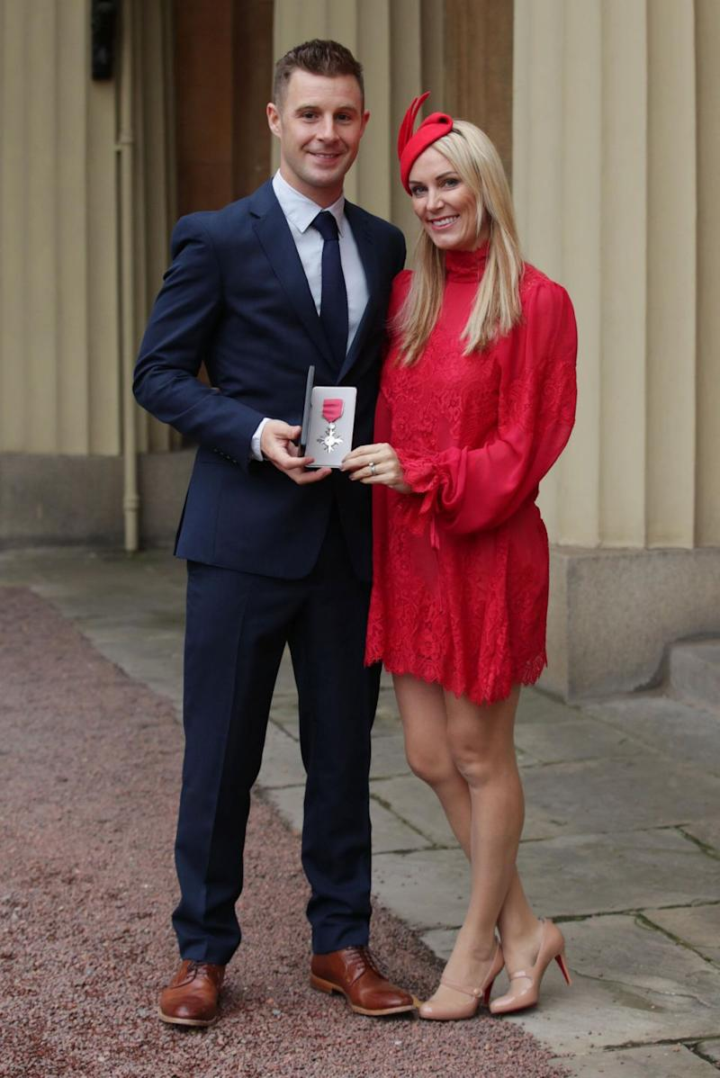"""During a MBE ceremony at Buckingham Palace, Northern Irish motorcycling world champion, Jonathan Rea, said Prince William told him his love of riding bikes had been put """"on the backburner"""". Photo: Getty Images"""