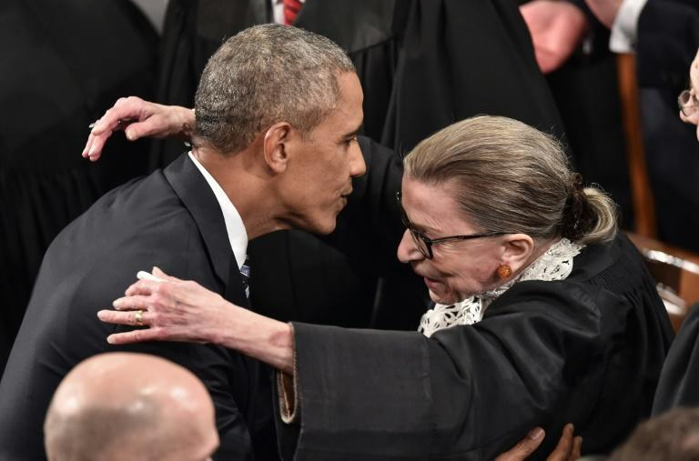 "Barack Obama said in a tweet that Ginsburg ""fought to the end, through her cancer, with unwavering faith in our democracy and its ideals"""