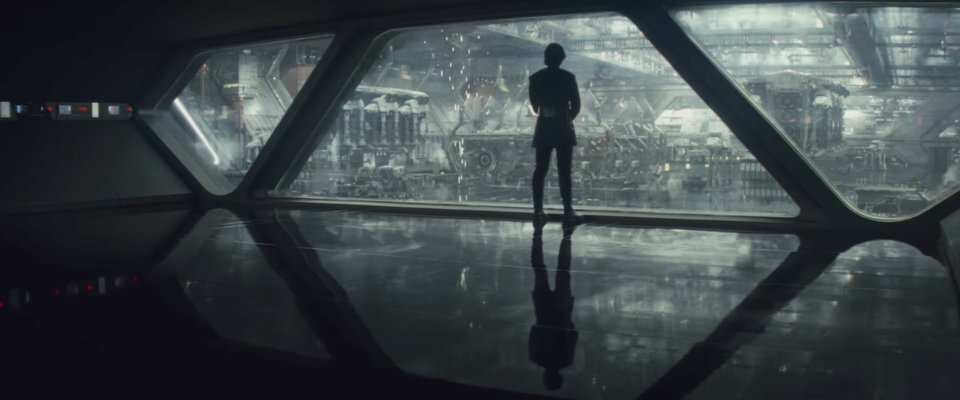 Kylo Ren observes the First Order forces. (Credit: Lucasfilm)