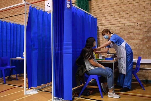 A mass vaccination centre in Cardiff (Justin Tallis/PA)