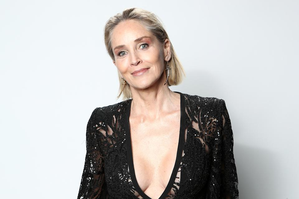 Sharon Stone, 62, is a working model. (Photo: Rich Polk/Getty Images for IMDb)