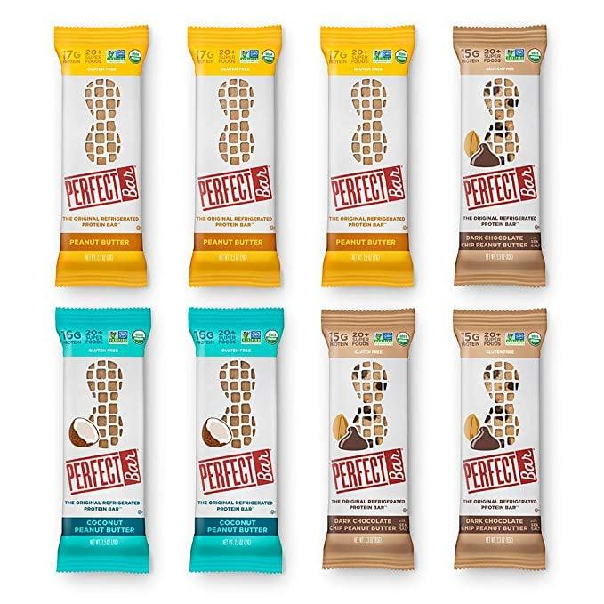 "<p>Keep these <a href=""https://www.popsugar.com/buy/Perfect-Bar-Original-Refrigerated-Protein-Bar-547419?p_name=Perfect%20Bar%20Original%20Refrigerated%20Protein%20Bar&retailer=amazon.com&pid=547419&price=24&evar1=fit%3Aus&evar9=45874267&evar98=https%3A%2F%2Fwww.popsugar.com%2Ffitness%2Fphoto-gallery%2F45874267%2Fimage%2F47188961%2FPerfect-Bar-Original-Refrigerated-Protein-Bar&list1=shopping%2Camazon%2Chealthy%20snacks%2Csnacks&prop13=mobile&pdata=1"" rel=""nofollow"" data-shoppable-link=""1"" target=""_blank"" class=""ga-track"" data-ga-category=""Related"" data-ga-label=""https://www.amazon.com/Perfect-Bar-Original-Refrigerated-Protein/dp/B07F1FQ9FK/ref=sr_1_5?keywords=perfect%2Bbars&amp;qid=1581029750&amp;sr=8-5&amp;th=1"" data-ga-action=""In-Line Links"">Perfect Bar Original Refrigerated Protein Bar</a> ($24 for 8) on hand because they'll give you tons of energy, and they're insanely delicious.</p>"