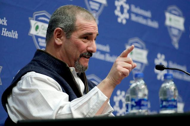 New York Giants general manager Dave Gettleman has no excuse not to find a young QB now. (AP)